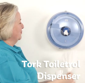 Tork toiletrol dispenser video