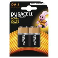 Alkalinebatterij Plus Power 9 V 6LR61 - Set van 2 - Duracell