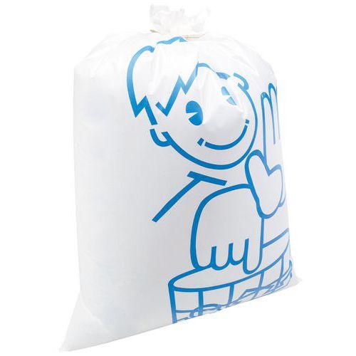 Afvalzak wit Otje - Dik en herbruikbaar - Zwaar afval - 110 en 168 l