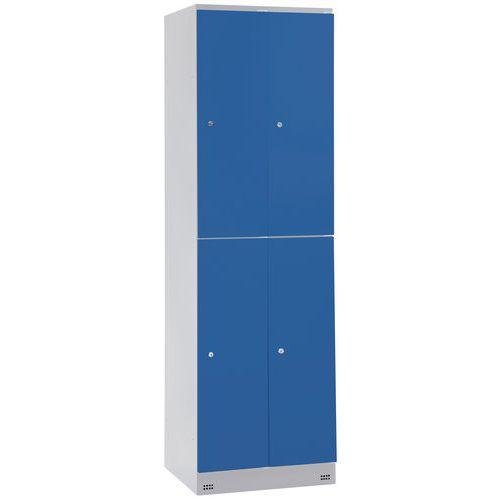 Garderobekast met 4 vakken en kledingstang Collectivite - 2 kolommen breedte 300 mm - Op sokkel