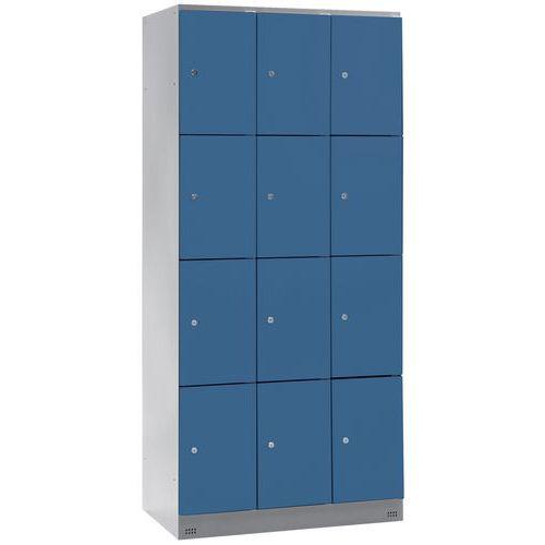 Garderobekast met 12 vakken Collectivite - 3 kolommen breedte 300 mm - Op voet