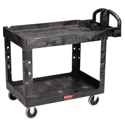 Kunststof etagewagen met 2 legbladen - Draagvermogen 226 kg