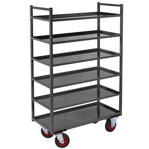 Metalen etagewagen - 6 legborden - Draagvermogen 400 kg