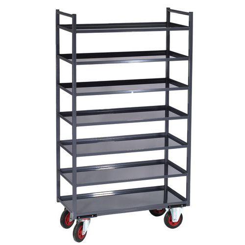 Metalen etagewagen - 7 legborden - Draagvermogen 400 kg