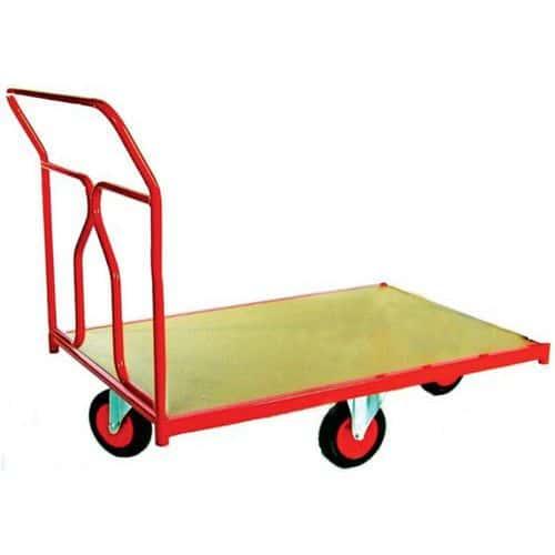 Plateauwagen met wielen in ruitvorm - Draagvermogen 500 kg - 1 rug
