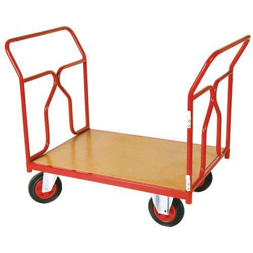 Plateauwagen - Draagvermogen 500 kg - 2 ruggen