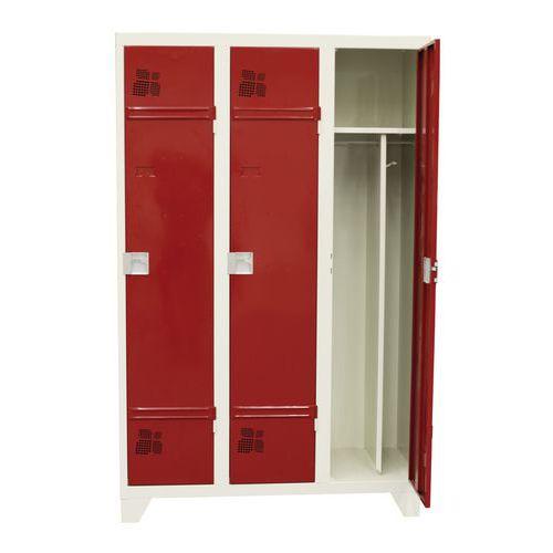 Garderobekast 1 tot 3 kolommen Premium - Kolombreedte 400 mm - Op poten
