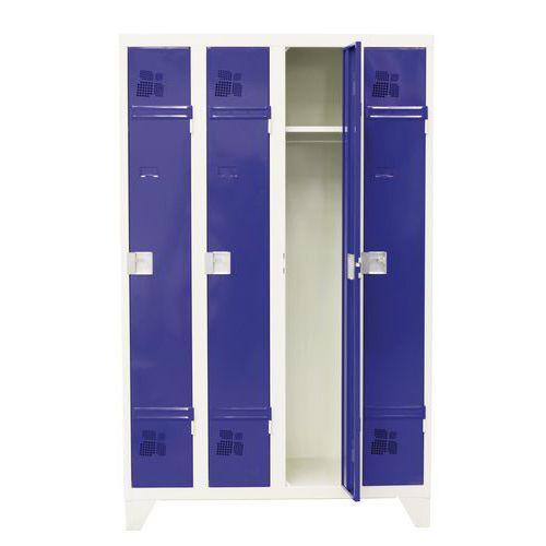 Garderobekast 1 tot 4 kolommen Premium - Kolombreedte 300 mm - Op poten