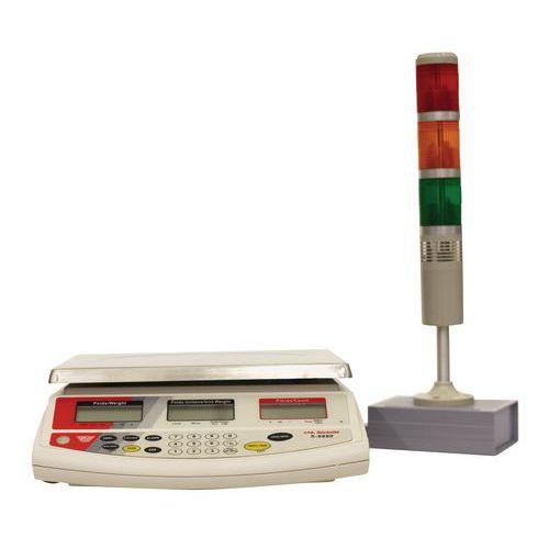 Afbeelding van Telweegschaal met lichtkolom 9880 - Capaciteit 3 tot 30 kg