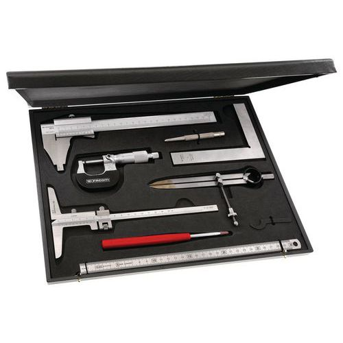 Metrologische / controlekoffer met 8 gereedschappen