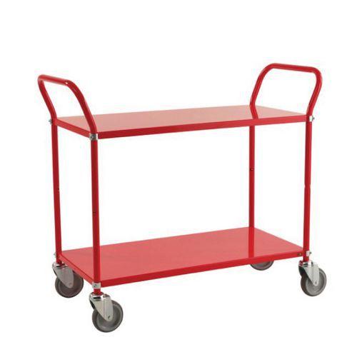 Lichtgekleurde trolley 2 plateaus 250 kg