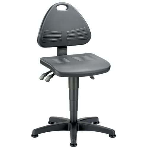 Afbeelding van Werkplaatsstoel Bimos Isitec - Laag - Op glijdoppen