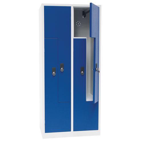 Garderobekast deur L metaal - 2 tot 6 vakken breedte 200 mm - Op voet
