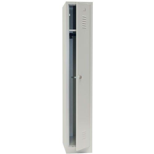 Garderobekast lichte industrie - Met slothouder - Breedte 300 mm - Op sokkel - Manutan