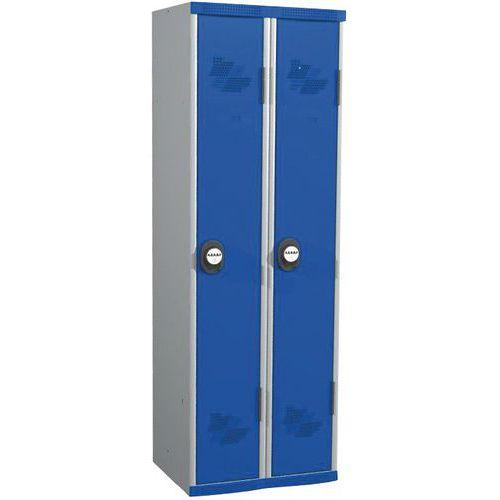 Garderobekast 2 kolommen Seamline Optimum® - kolombreedte 300 mm - op sokkel - Acial