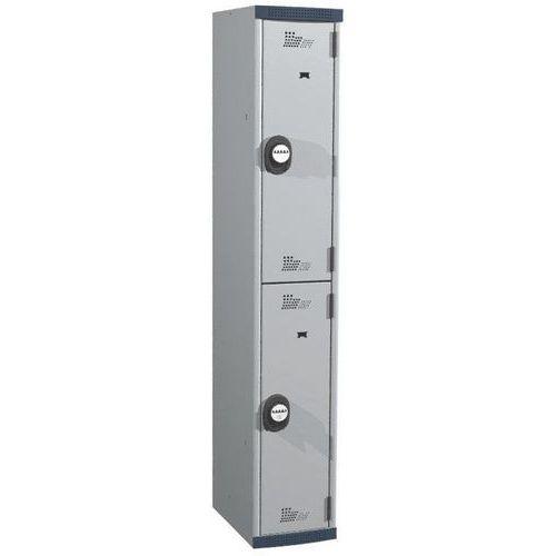 Afbeelding van Garderobekast 2 hangvakken Seamline Optimum® - 1 kolom breedte 300 mm - Op voet