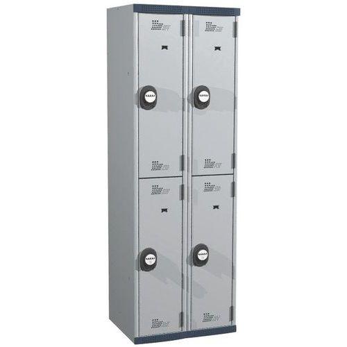 Afbeelding van Garderobekast 4 hangvakken Seamline Optimum® - 2 kolommen breedte 300 mm - Op voet