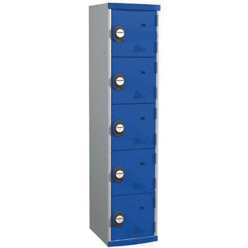 Garderobekast 5 vakken Seamline Optimum® - 1 kolom breedte 400 mm - Op voet