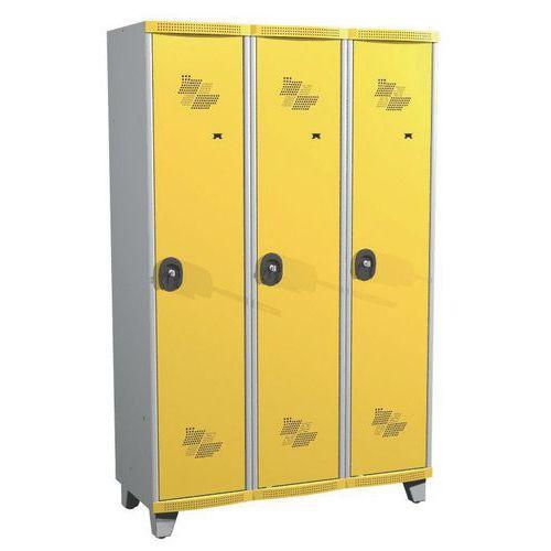 Garderobekast 3 kolommen Seamline Optimum® - Kolombreedte 400 mm - Op poten