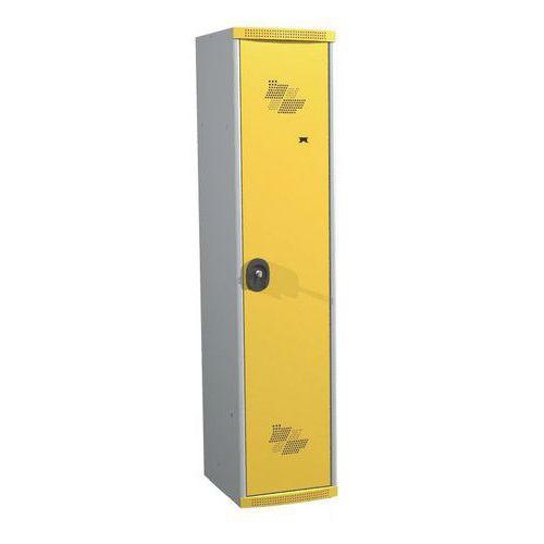 Garderobekast 1 kolom Seamline Optimum® - kolombreedte 400 mm - op sokkel - Acial