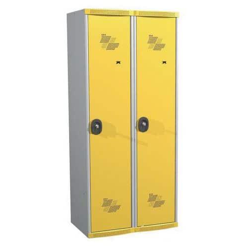 Garderobekast 2 kolommen Seamline Optimum® - kolombreedte 400 mm - op sokkel - Acial