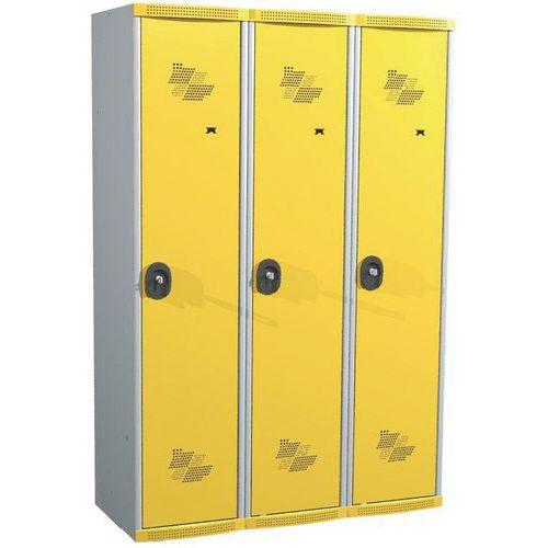 Garderobekast 3 kolommen Seamline Optimum® - kolombreedte 400 mm - op sokkel - Acial