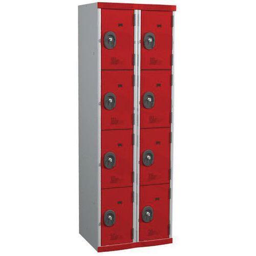 Afbeelding van Garderobekast 8 vakken Seamline Optimum® - 2 kolommen breedte 300 mm - Op voet