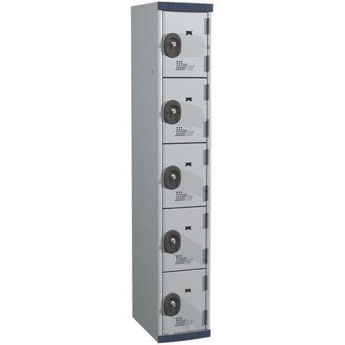 Afbeelding van Garderobekast 5 vakken Seamline Optimum® - 1 kolom breedte 300 mm - Op voet