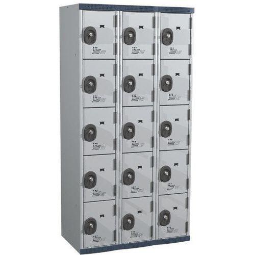 Afbeelding van Garderobekast 15 vakken Seamline Optimum® - 3 kolommen breedte 300 mm - Op voet