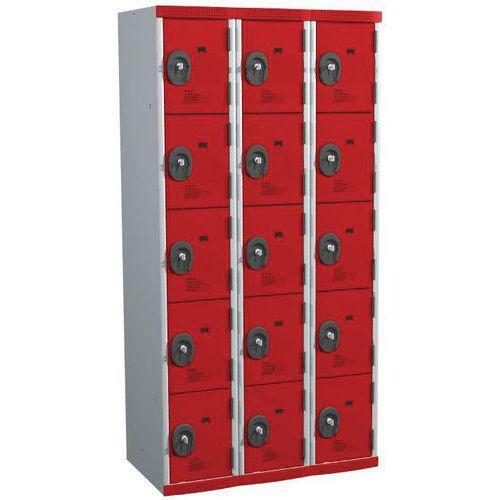 Garderobekast 15 vakken Seamline Optimum® - 3 kolommen breedte 300 mm - Op voet