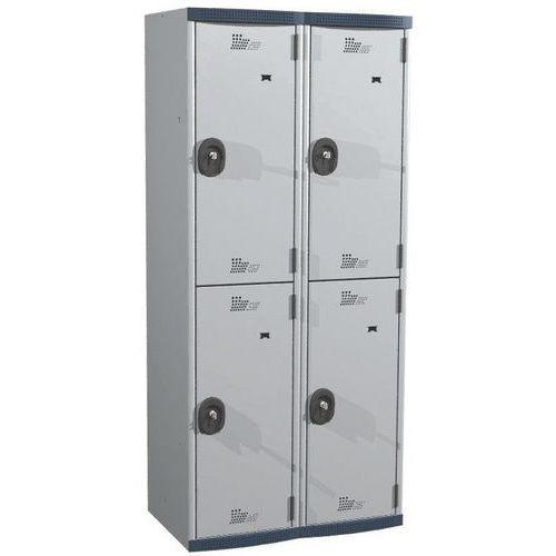 Afbeelding van Garderobekast 4 hangvakken Seamline Optimum® - 2 kolommen breedte 400 mm - Op voet