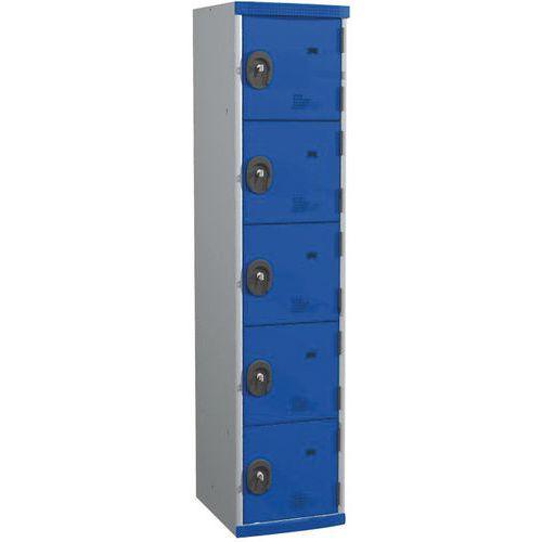 Afbeelding van Garderobekast 5 vakken Seamline Optimum® - 1 kolom breedte 400 mm - Op voet