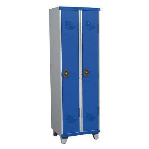 Garderobekast 2 kolommen Seamline Optimum® - Kolombreedte 300 mm - Op poten