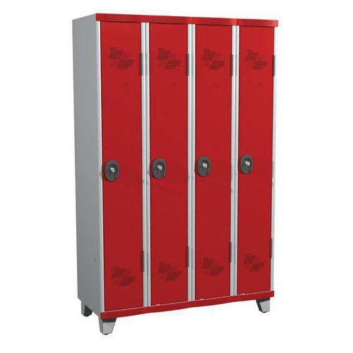 Garderobekast 4 kolommen Seamline Optimum® - kolombreedte 300 mm - op poten - Acial