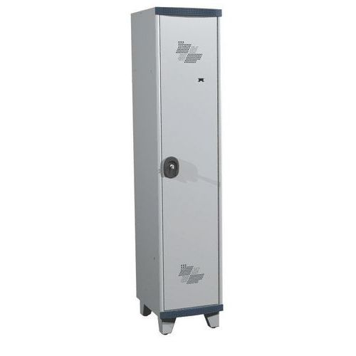 Garderobekast 1 kolom Seamline Optimum® - Kolombreedte 400 mm - Op poten