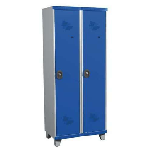 Garderobekast 2 kolommen Seamline Optimum® - kolombreedte 400 mm - op poten - Acial