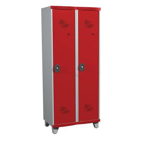 Afbeelding van Garderobekast 2 kolommen Seamline Optimum® - Kolombreedte 400 mm - Op poten