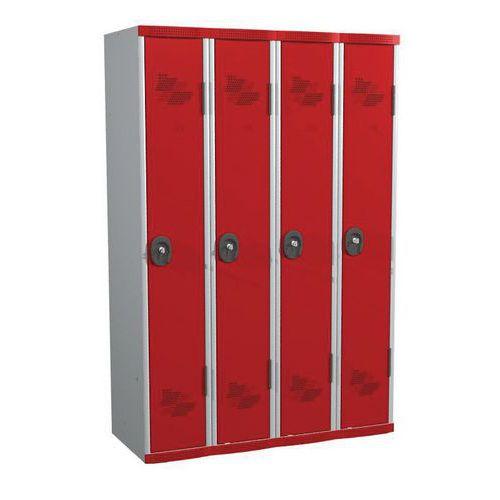 Garderobekast 4 kolommen Seamline Optimum® - Kolombreedte 300 mm - Op voet