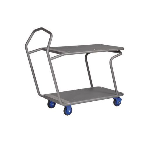 Ergonomische plateauwagen met 2 plateau Edcar - Draagvermogen 300 kg