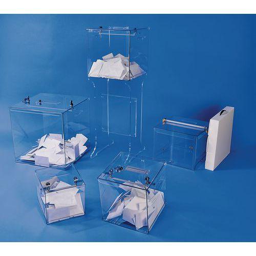Stembus transparant - 2000 stembiljetten