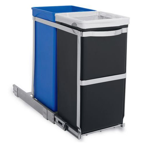 Pull-out Recycler Bin 35 ltr - Simplehuman