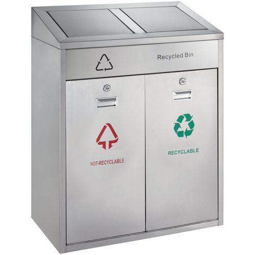 Afvalbak afvalscheiding 2x21l - Vepabins