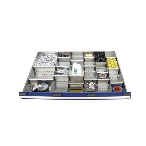 Set tussenschotten voor Bott SL-107 ladekast - Hoogte 12,7 cm