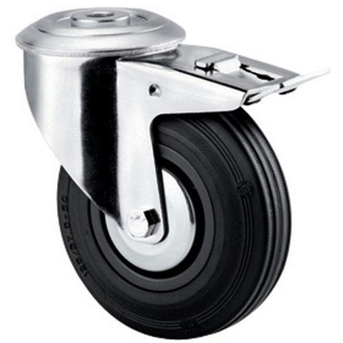 Zwenkwiel met boutgat geremd - Draagvermogen 100 kg