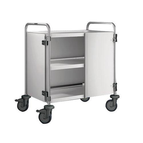 Afbeelding van Afwerkingsset voor serveerwagen met 2/3 legborden belasting 120 kg - 3 wanden + 2 deuren