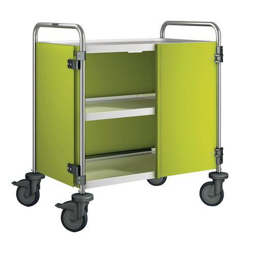 Afwerkingsset voor serveerwagen met 2/3 legborden belasting 120 kg - 3 wanden + 2 deuren