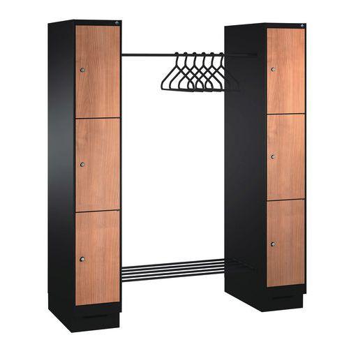 Garderobekast 6 tot 10 vakken en kledingstang - Lengte kledingstang 1150 mm
