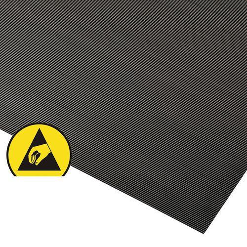 Statisch dissipatieve ergonomische rubbermat