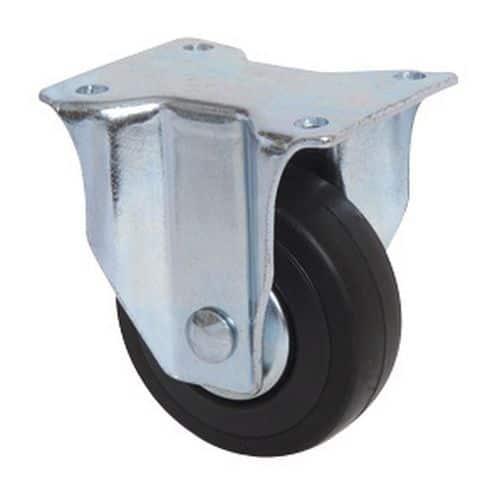 Vast wiel met plaat - draagvermogen 40 kg