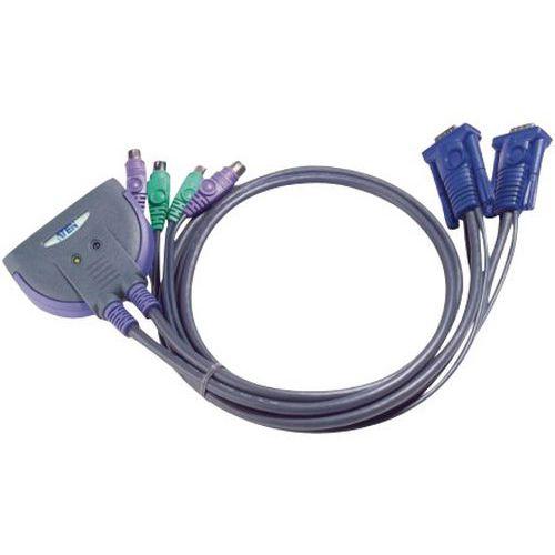 KVM-minischakelaar 2 poorten VGA/PS2